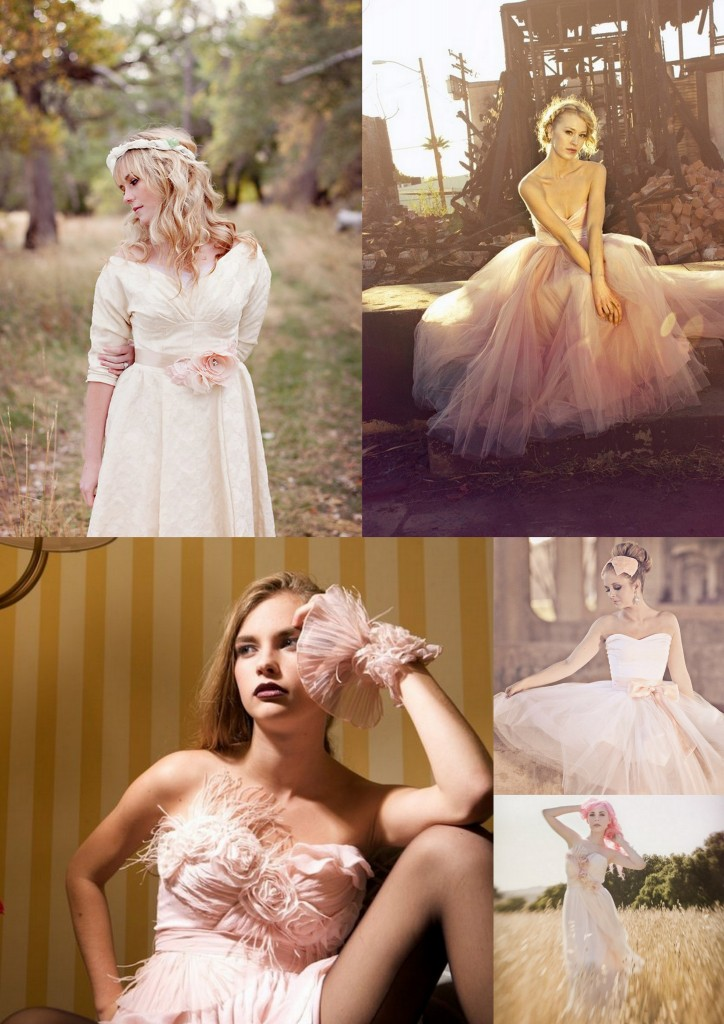 Blush Wedding Dresses: A Wedding Mood Board