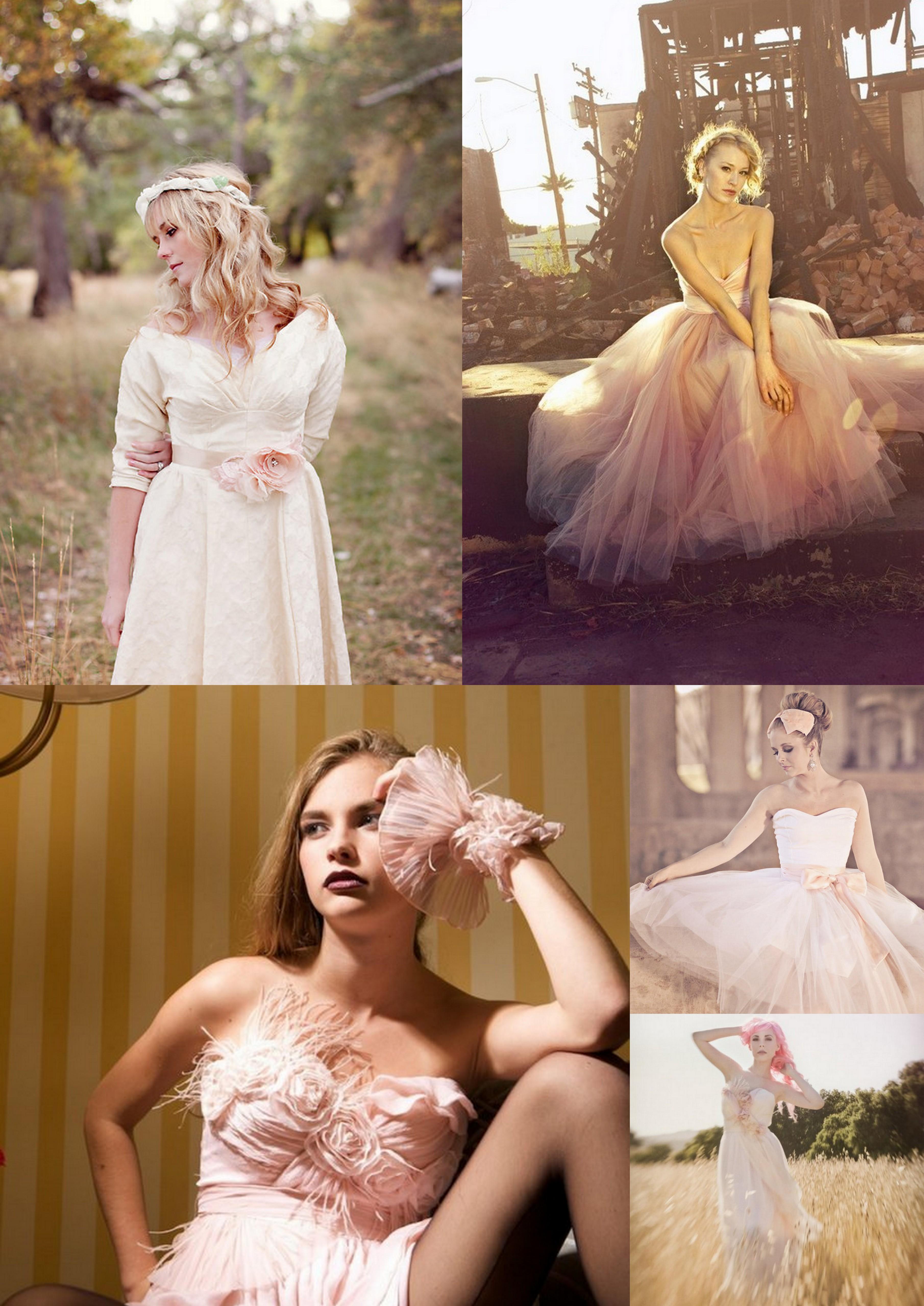 Blush Wedding Dresses: A Wedding Mood Board