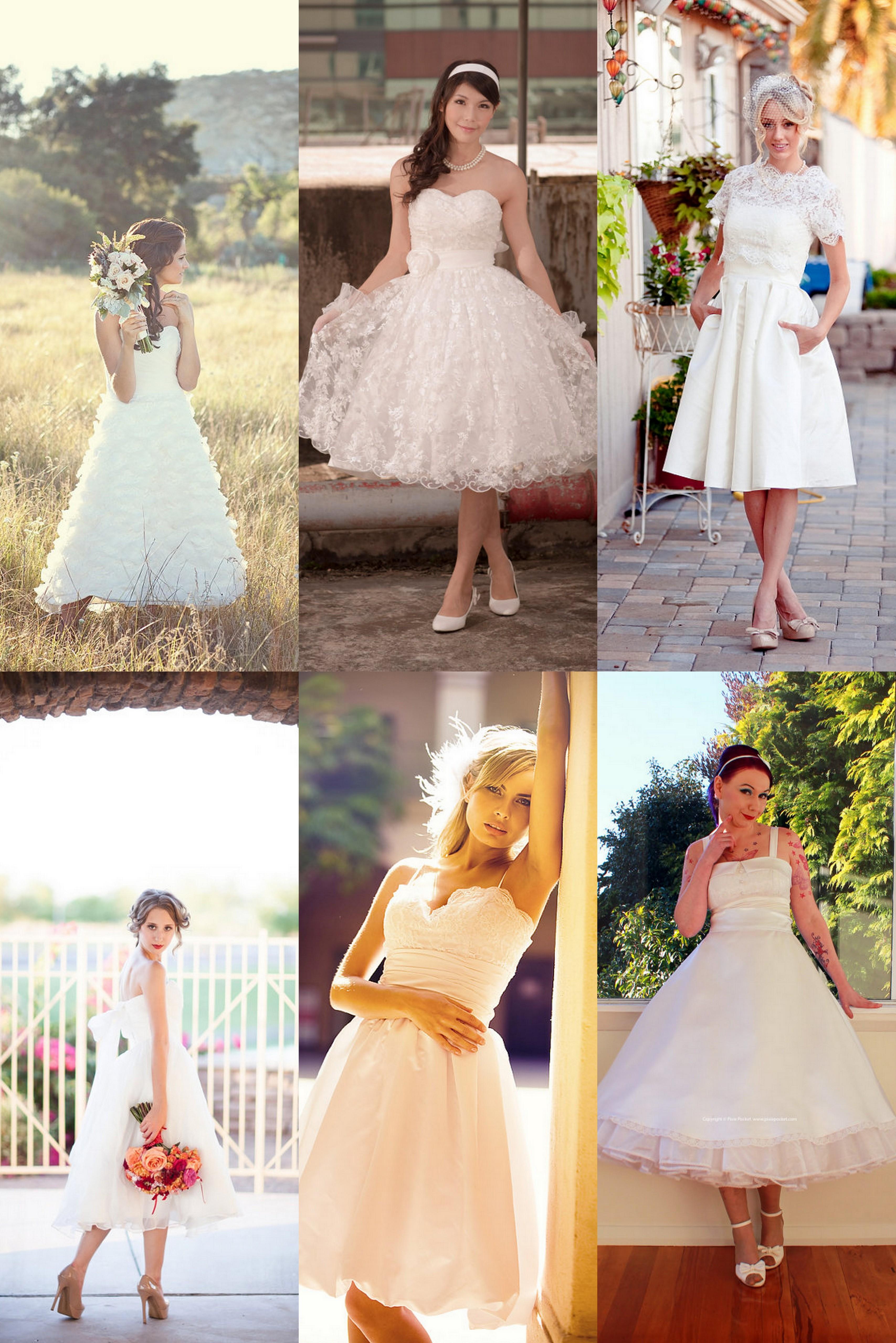 Tea Length Wedding Dress With Shoes Fashion Dresses