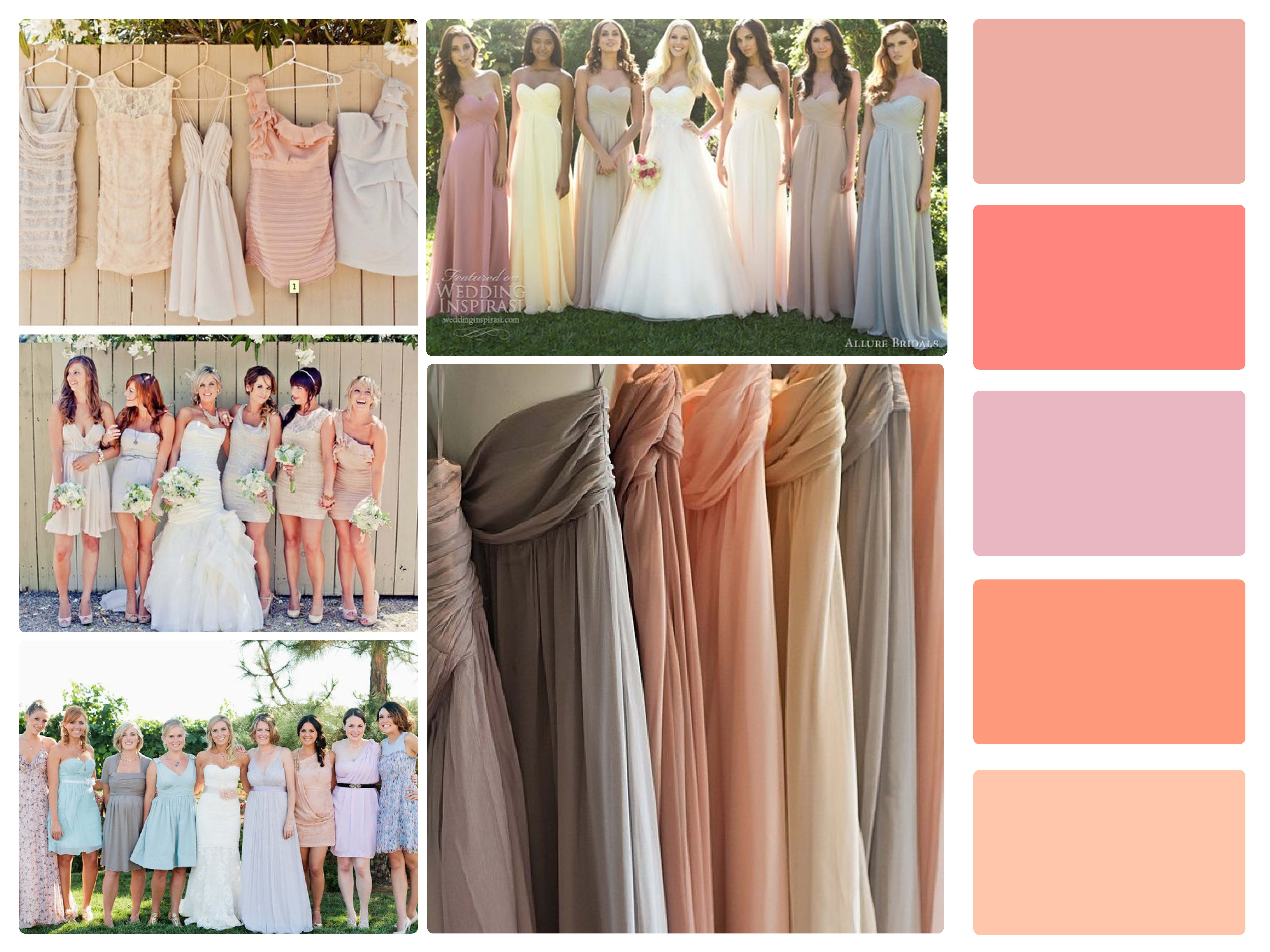 mix and match bridesmaids