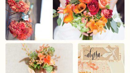 Colour Palette - Orange Wedding Theme