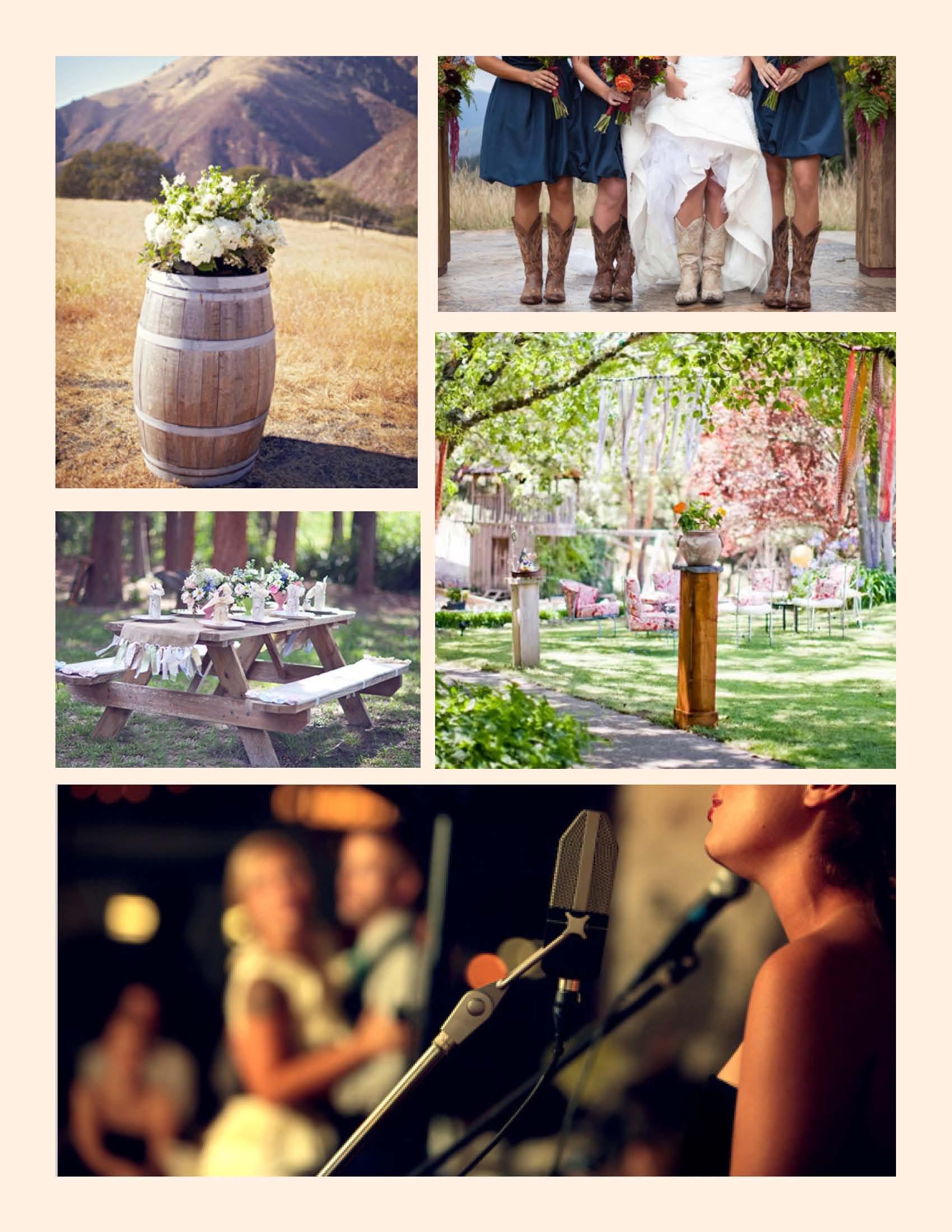 Festival Wedding Theme Moodboard