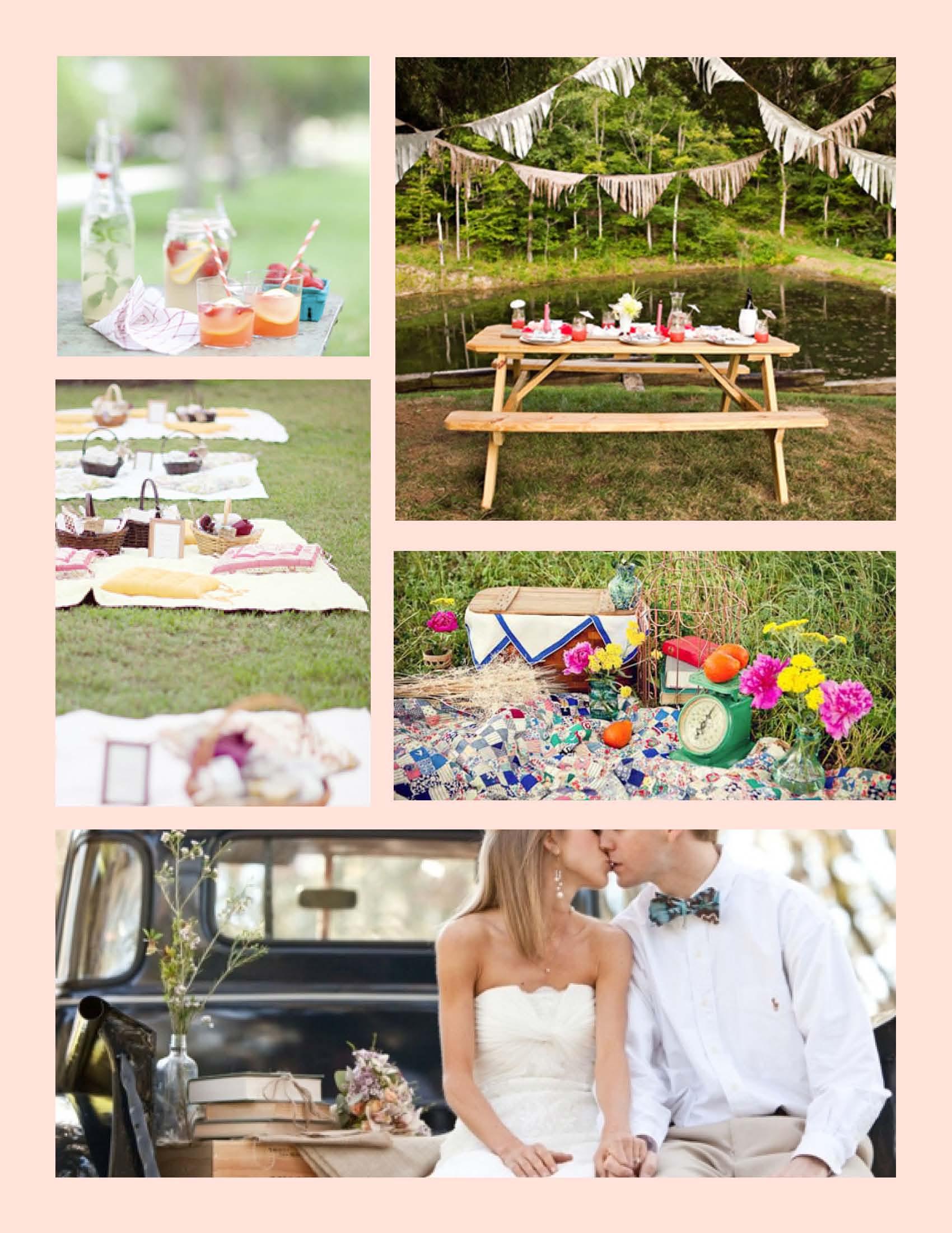 Picnic Themed Wedding