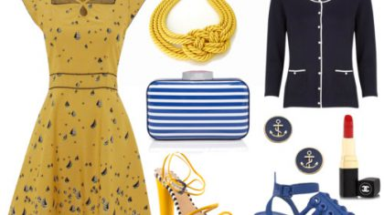Moodboard Wedding Guest Attire: Nautical