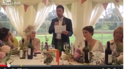 Man United Fan's Wedding Speech at Man City Wedding