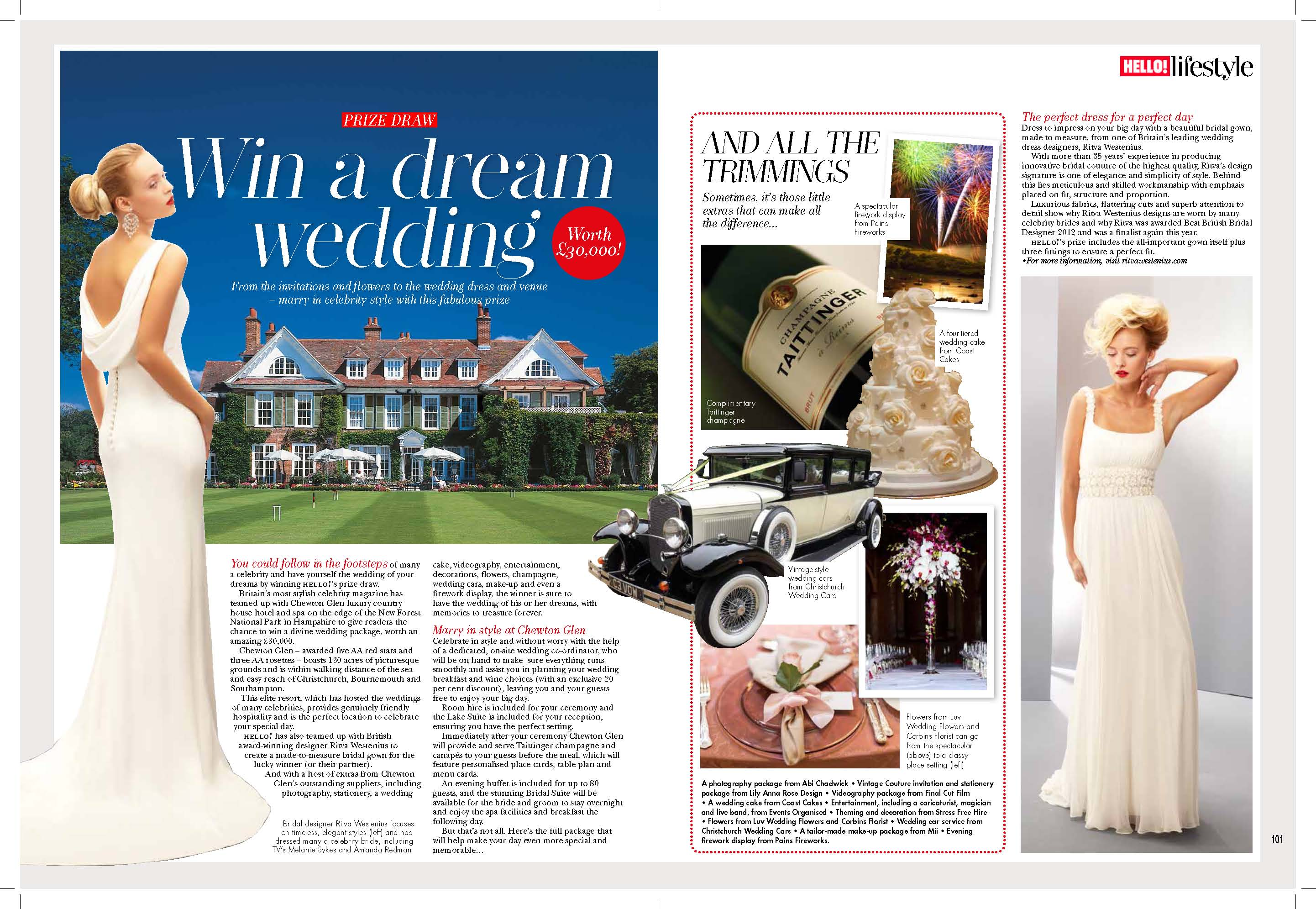 Win Your Wedding at Chewton Glen
