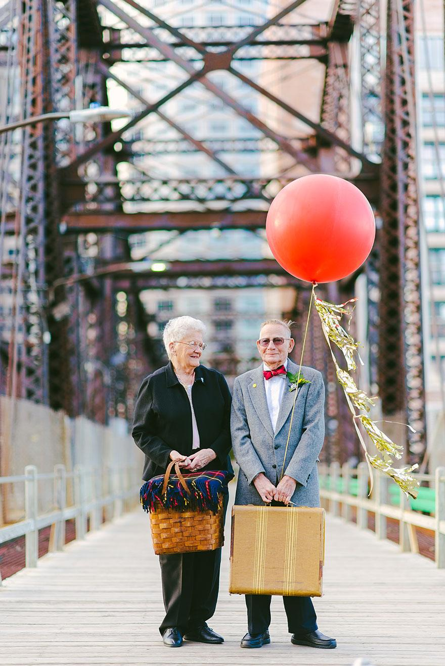 """Up"" Inspired 61st Anniversary Wedding Photos"