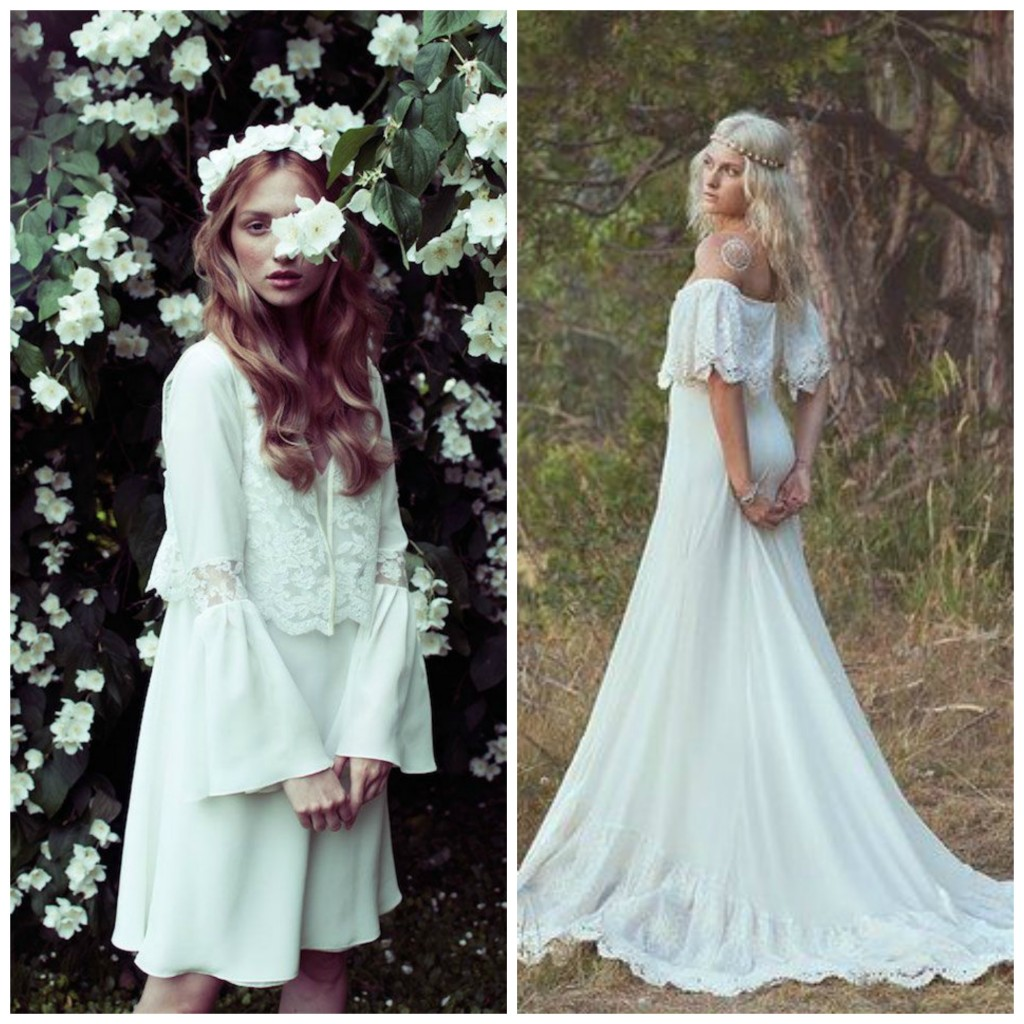 Bohemian fantasy 70s style wedding inspiration weddingdates for 70s inspired wedding dress