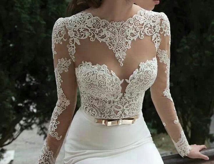 Figure-hugging Wedding Dress