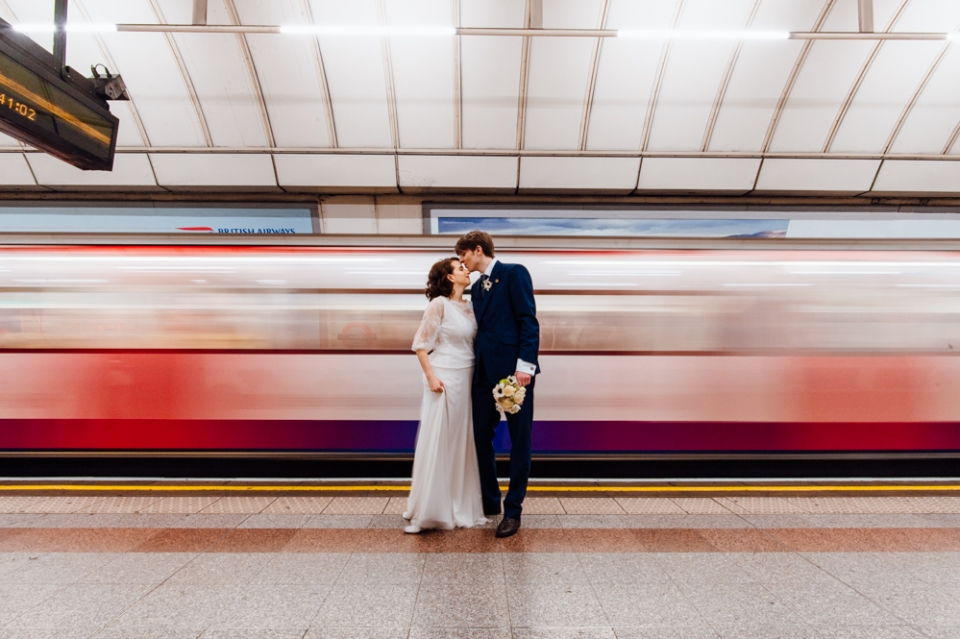 London Tube Wedding Anna Pumer Photography
