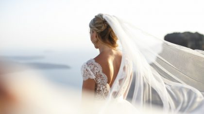 True Romance: Kelly & Tony's Wedding In Santorini