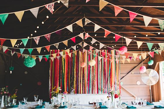 Bunting & Pom Poms by Tin Sparrow Studio