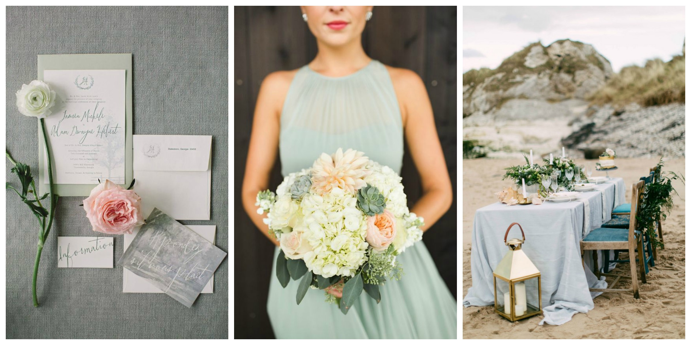 Seafoam Green Wedding Colour Palette