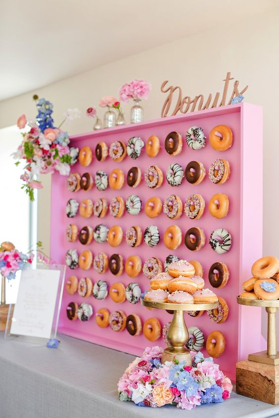 Creative Catering: The Wedding Donut Wall