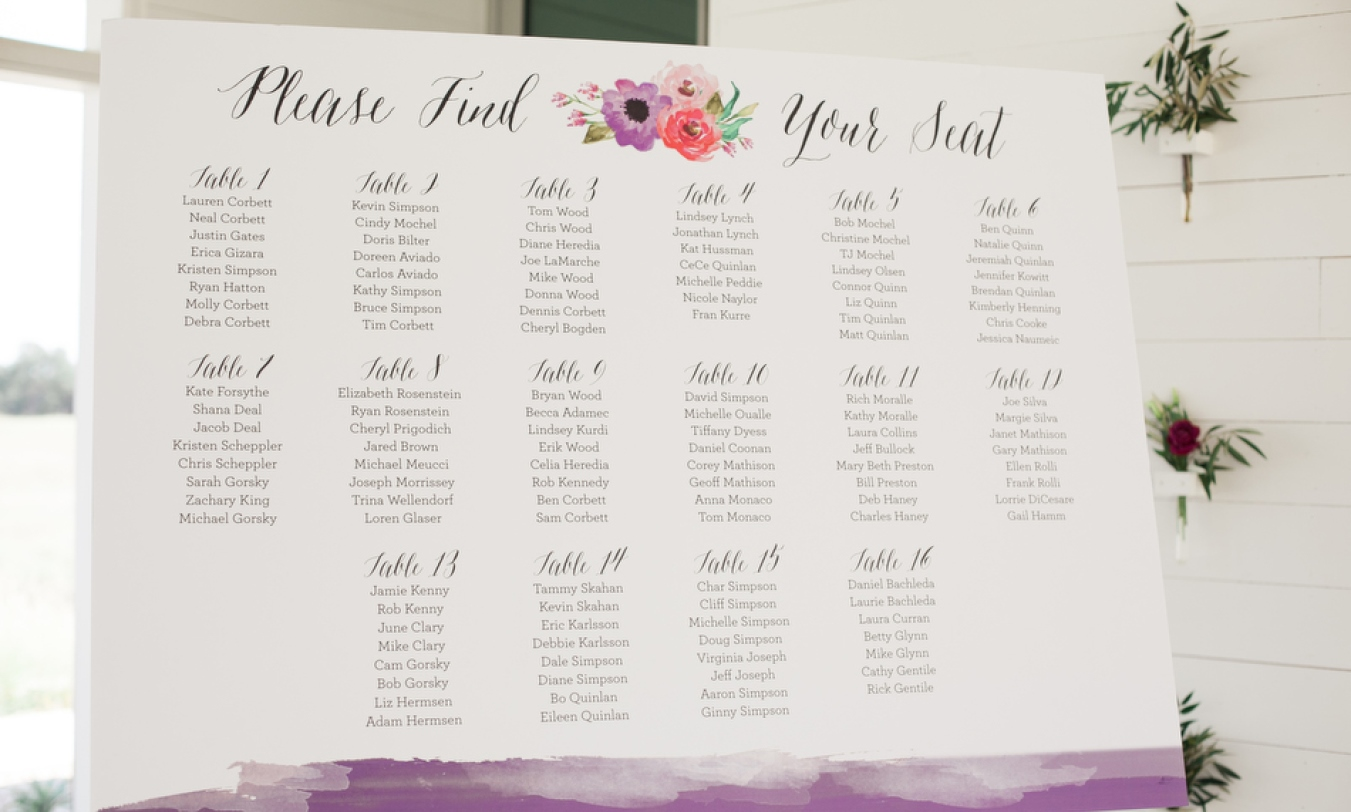 Bye Bye Stress: How To Cleverly Crack Your Seating Plan