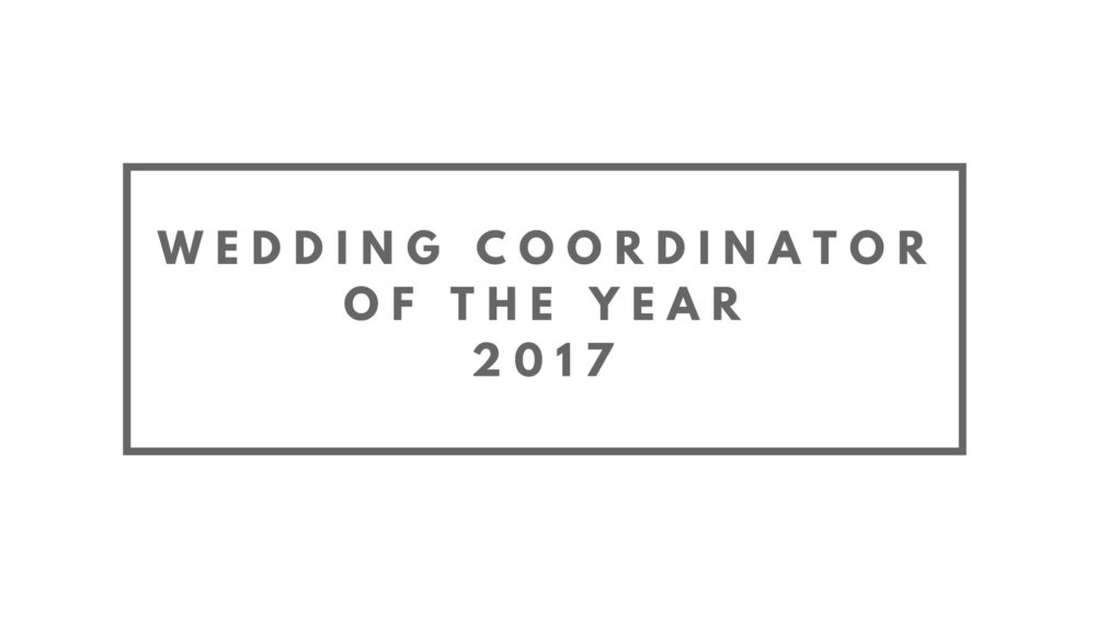 Wedding Coordinator Of The Year 2017