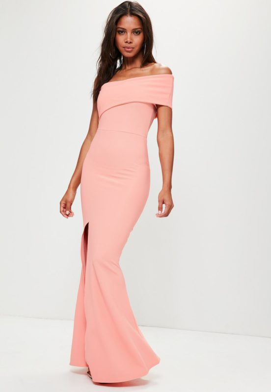 coral-one-shoulder-maxi-dress
