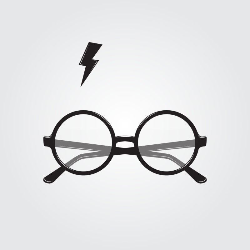 52958363 - round glasses and lighting. vector illustration