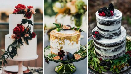 Moody & Mouthwatering Autumn Wedding Cakes