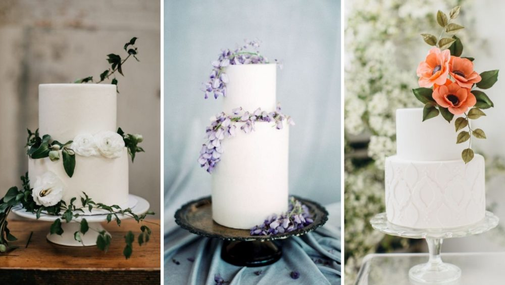 White Minimalist Wedding Cakes Sure To Win You Over