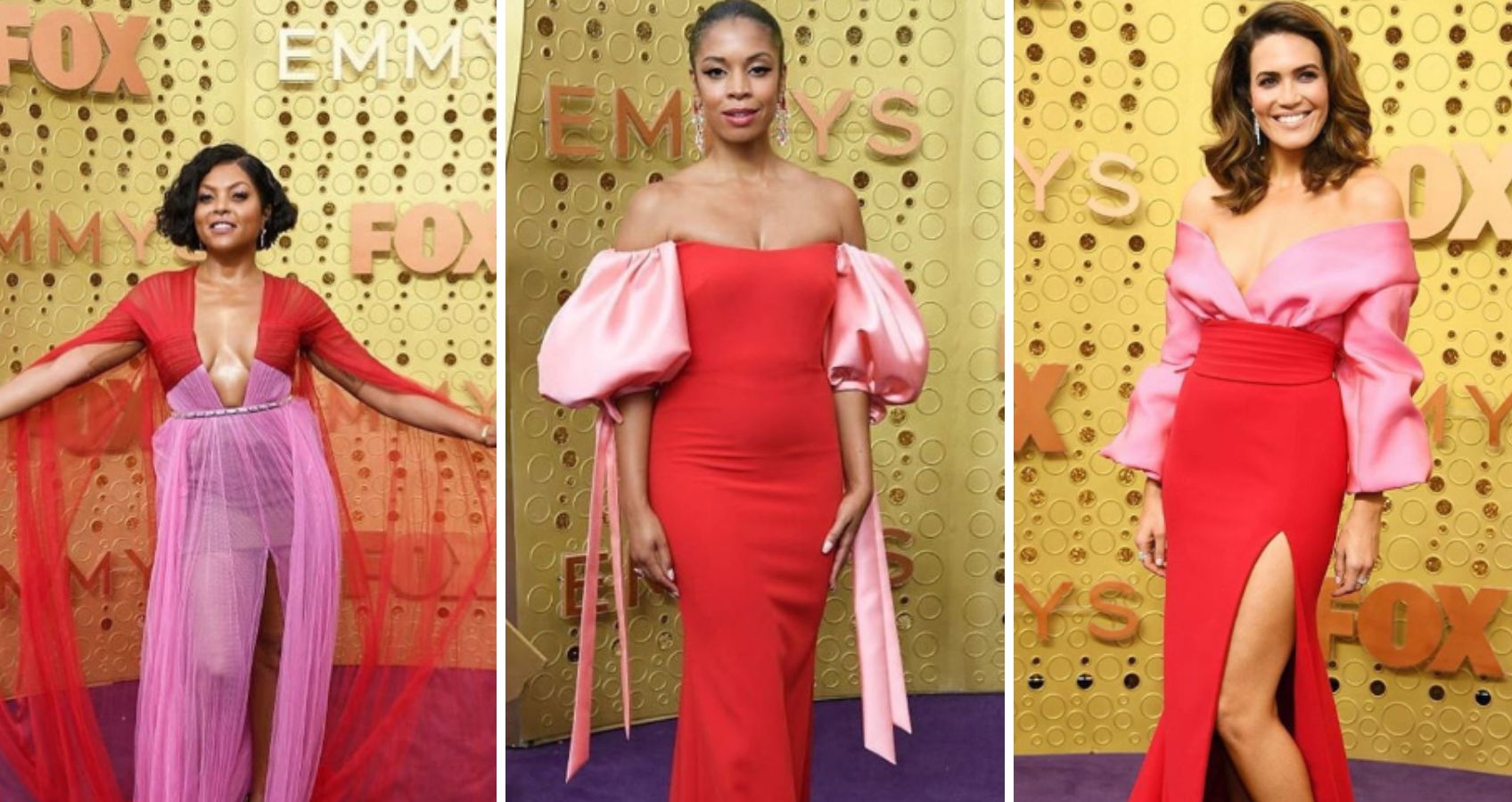 Emmy's 2019 : The Winning Combination is Red & Pink.