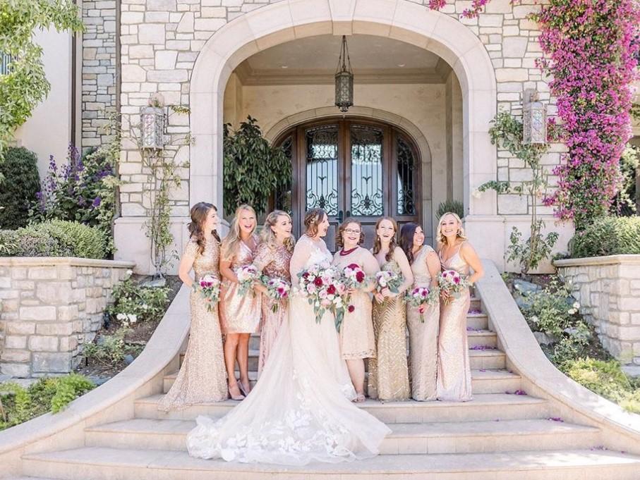 Bridesmaids - Same colour different styles 3