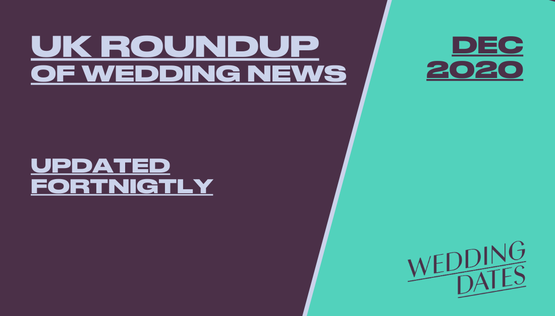 December 2020 Roundup of Wedding News from the UK