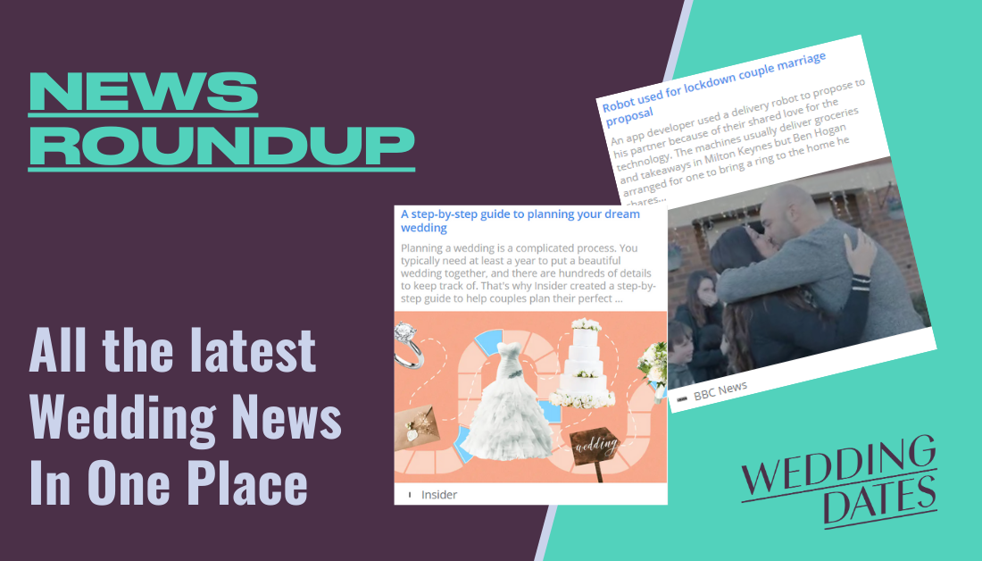January 2021 Roundup of Wedding News from the UK