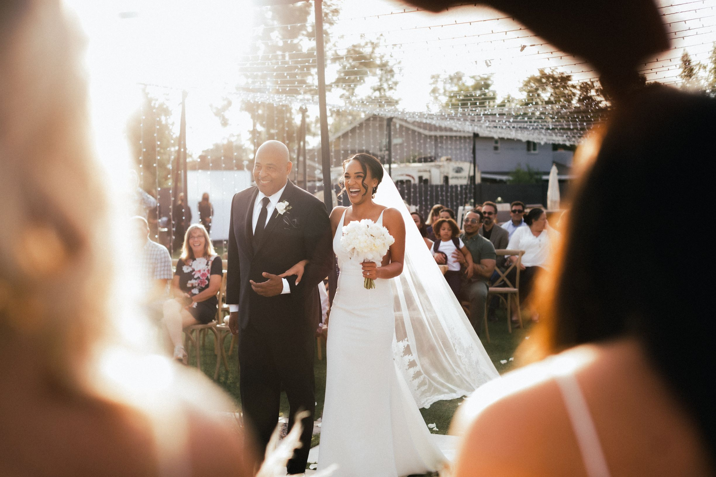 Intimate weddings - father and bride