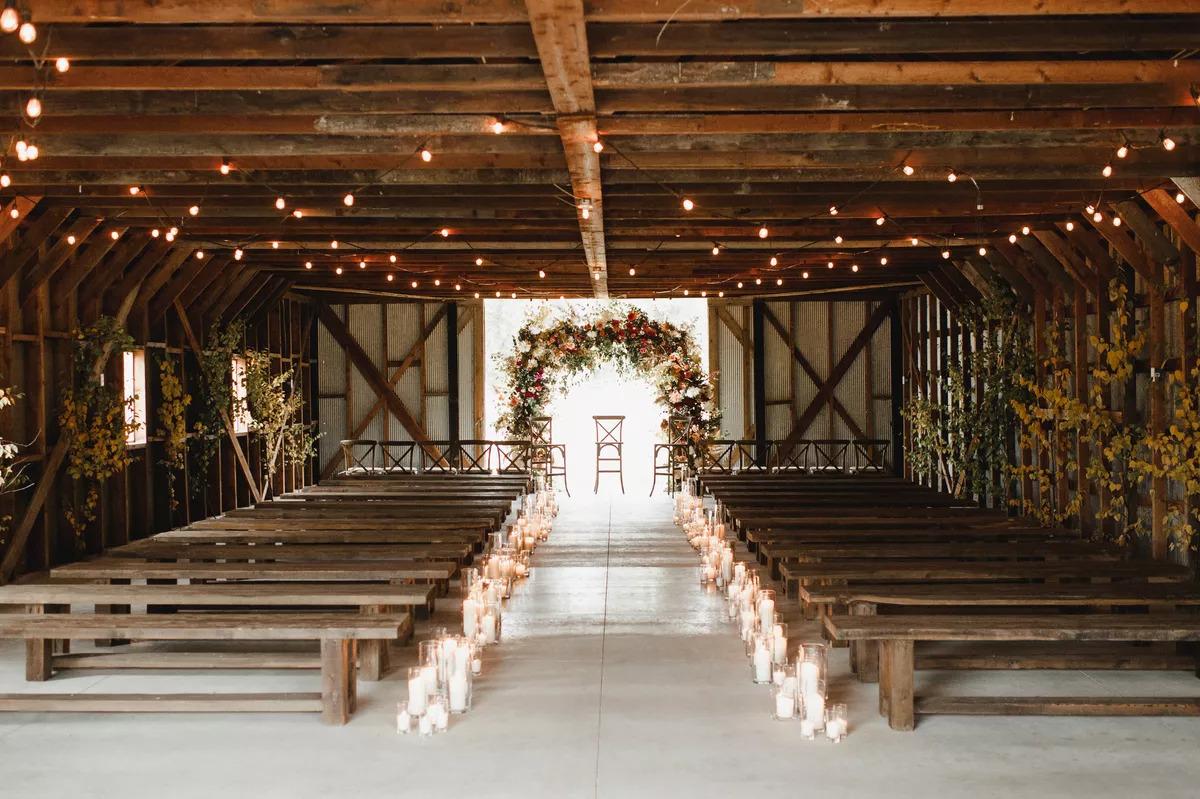 lights for your Barn Wedding